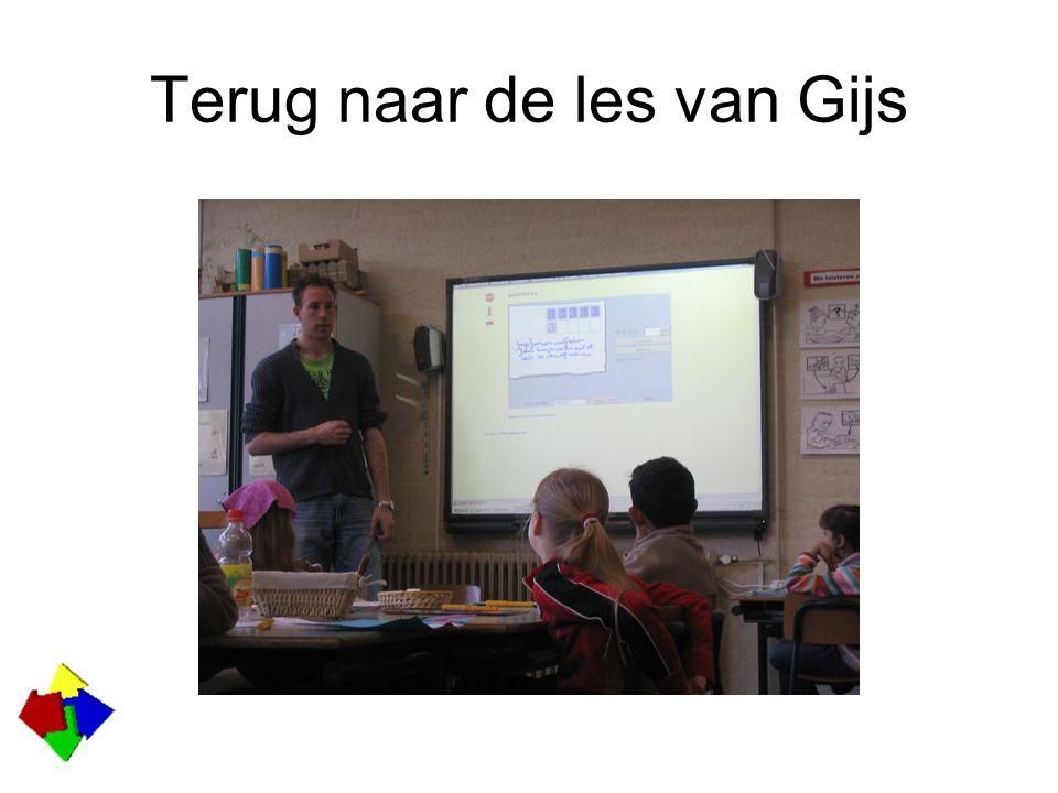 Terug naar de les van Gijs