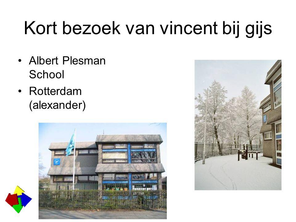 Kort bezoek van vincent bij gijs Albert Plesman School Rotterdam (alexander)