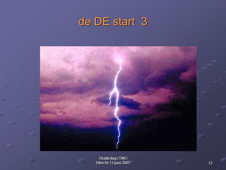 12 Studiedag cTWO Utrecht 13 juni 2007 de DE start 3
