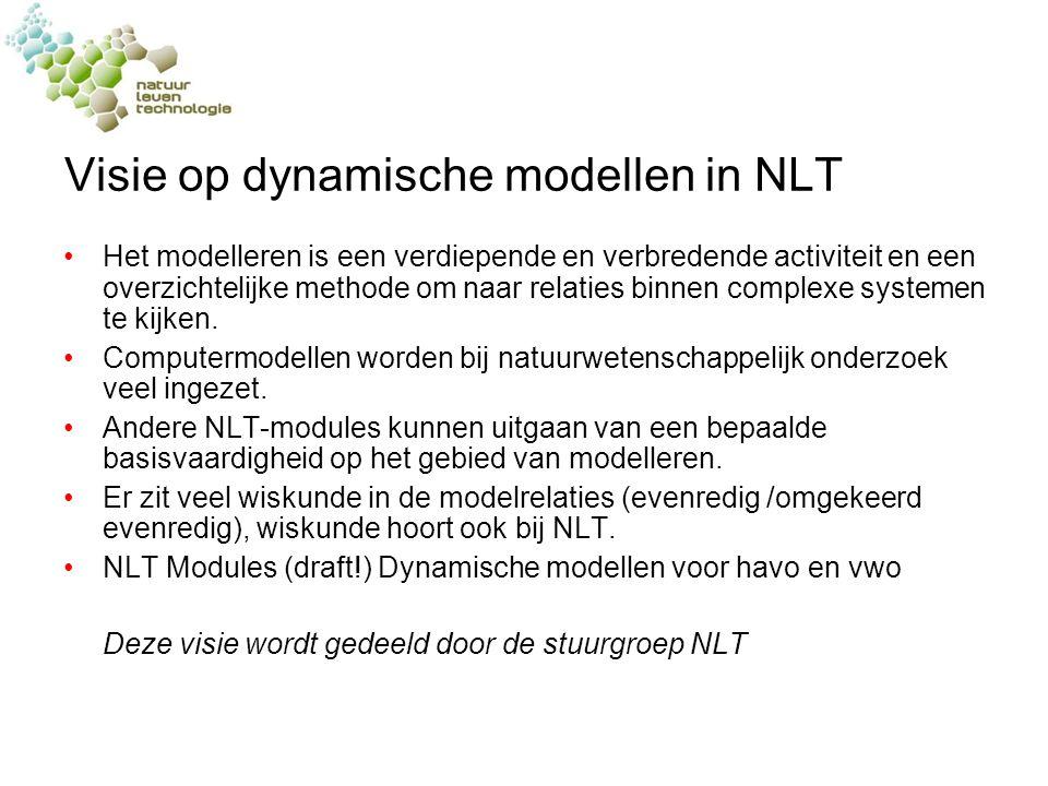 Visie op dynamische modellen in NLT Het modelleren is een verdiepende en verbredende activiteit en een overzichtelijke methode om naar relaties binnen complexe systemen te kijken.