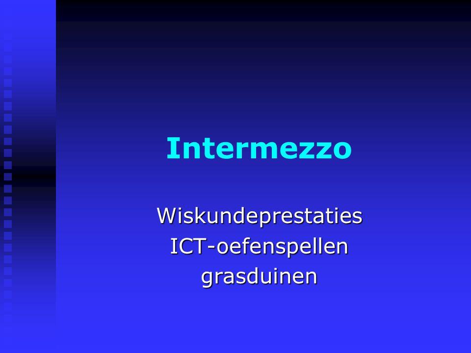 Intermezzo WiskundeprestatiesICT-oefenspellengrasduinen