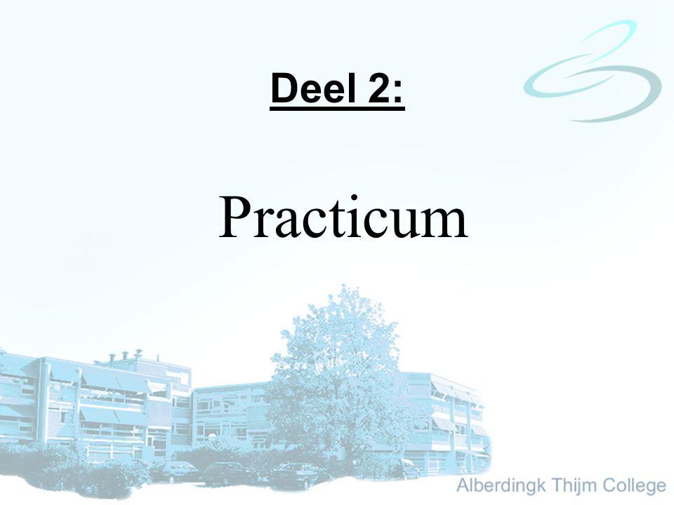 Deel 2: Practicum