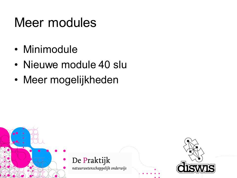 Meer modules Minimodule Nieuwe module 40 slu Meer mogelijkheden