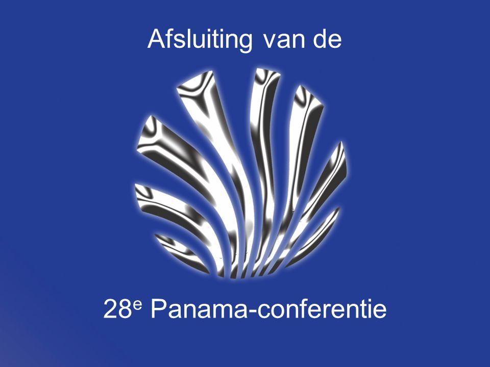Afsluiting van de 28 e Panama-conferentie