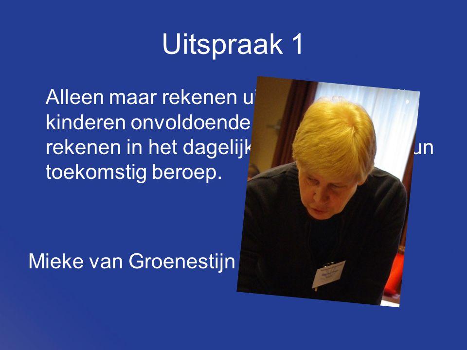 Uitspraak 10 Rekenen is ook emotie. Marjolein Kool