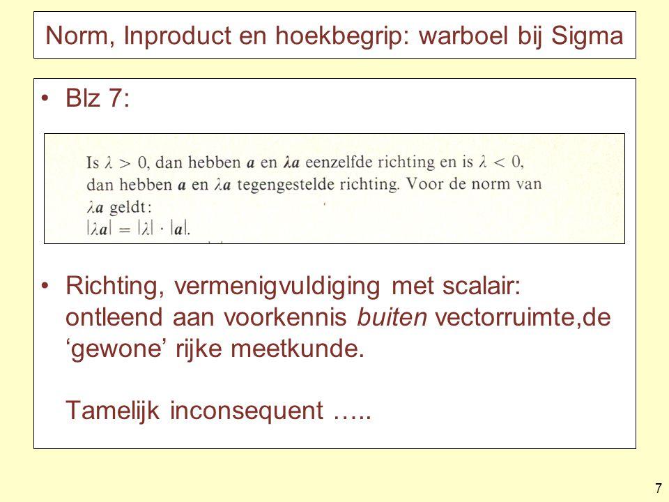 18 De coördinatisten falen (2007) Neem steeds twee tegenover elkaar liggende vectoren samen –????????.