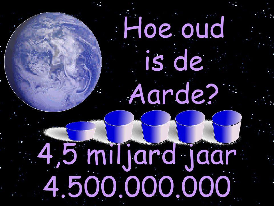 Hoe oud is de Aarde? 4,5 miljard jaar 4.500.000.000