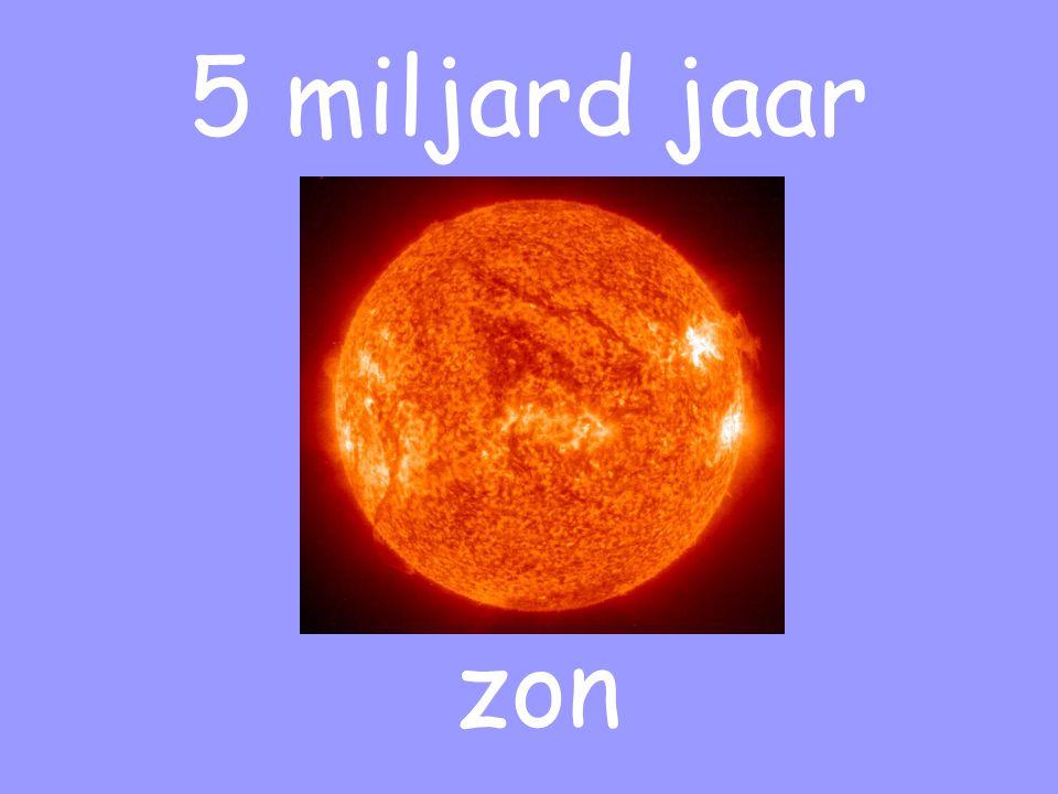 5 miljard jaar zon
