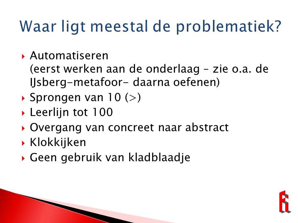  Automatiseren (eerst werken aan de onderlaag – zie o.a.
