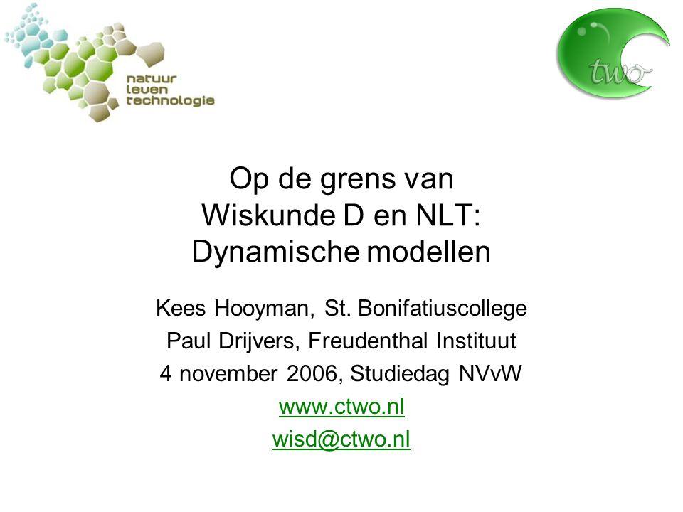 Op de grens van Wiskunde D en NLT: Dynamische modellen Kees Hooyman, St.