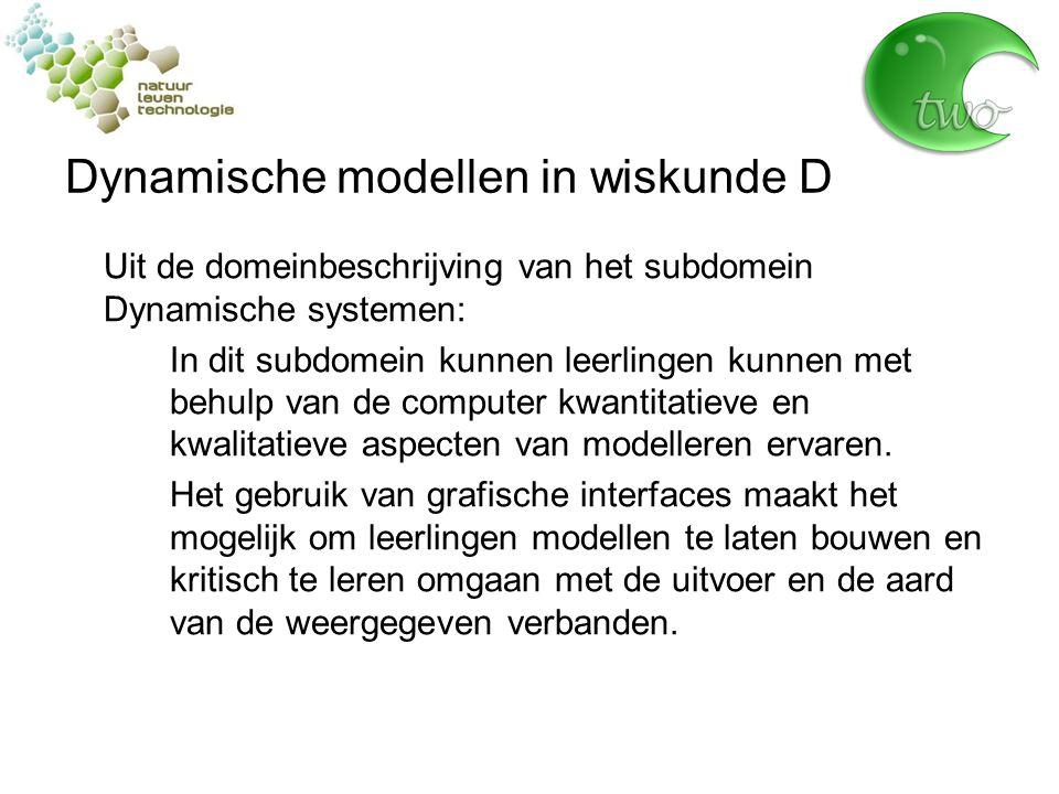 Dynamische modellen in wiskunde D Uitgangspunten voor het voorliggende lesmateriaal: Voorzichtig met differentiaalvergelijkingen.