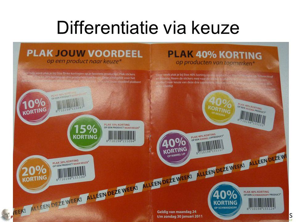 Differentiatie via keuze