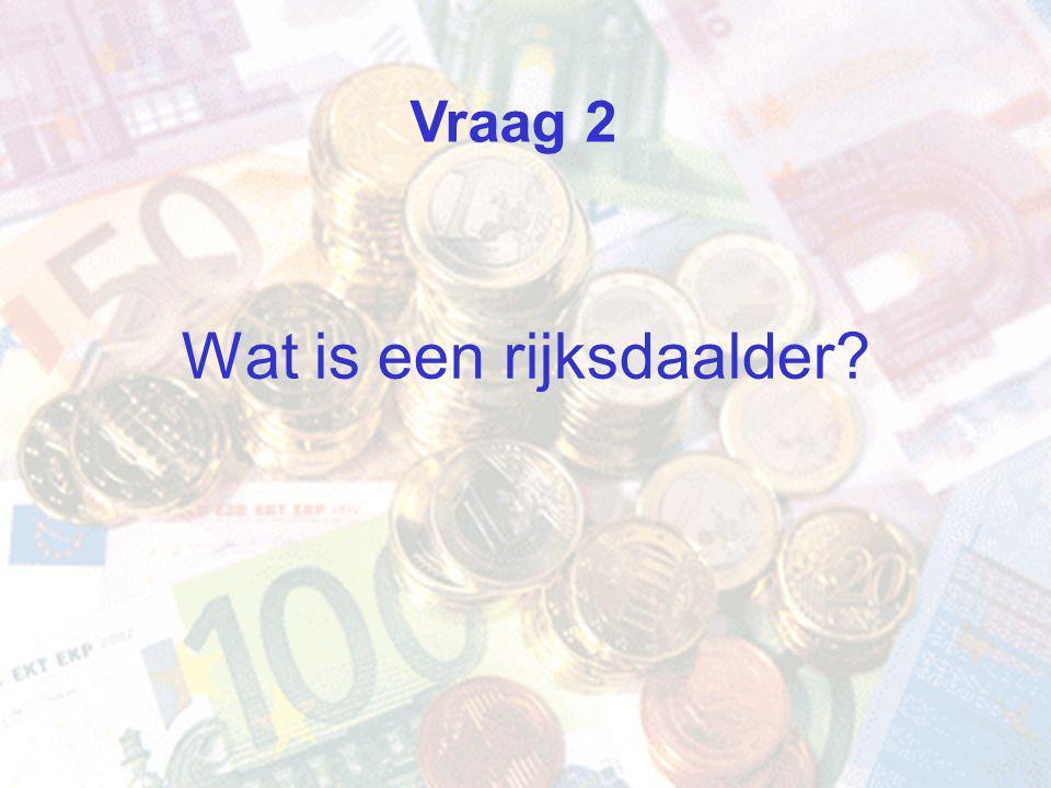 Wat is een rijksdaalder Vraag 2