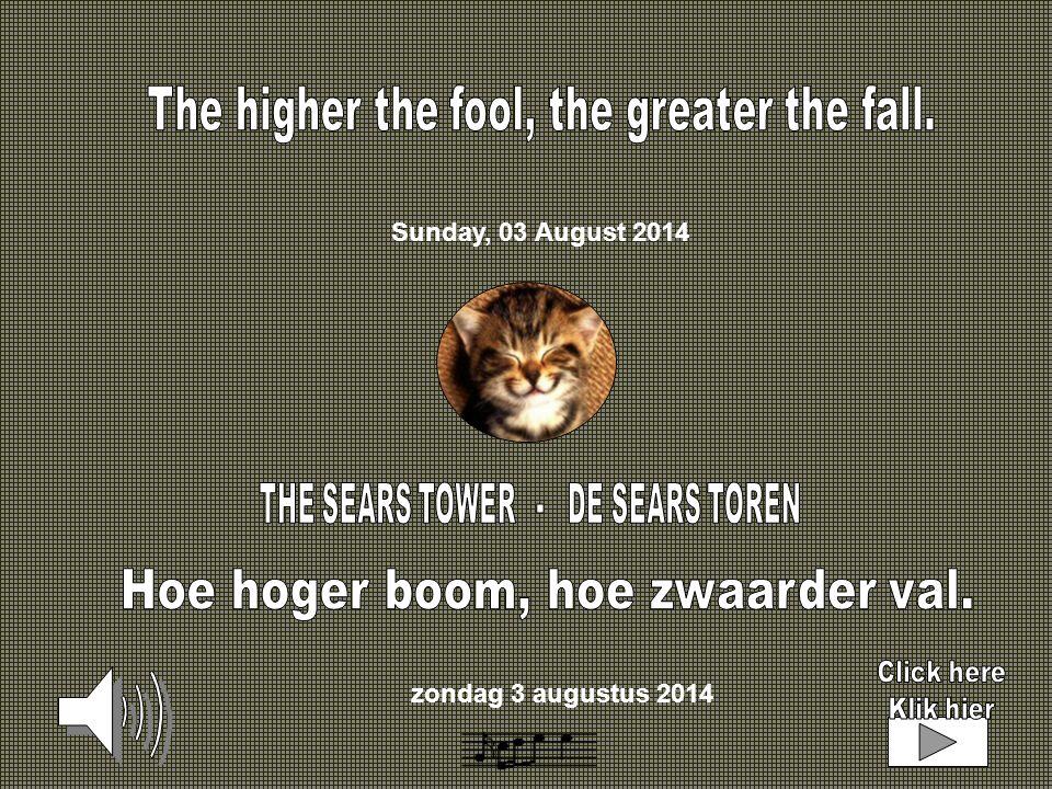zondag 3 augustus 2014 Sunday, 03 August 2014