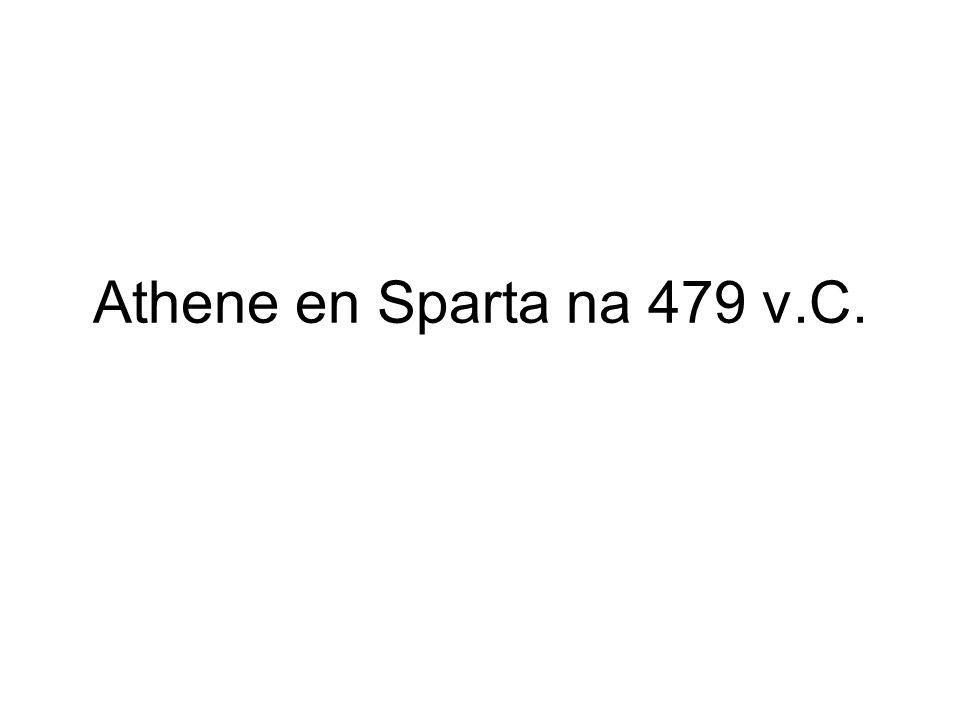 Athene en Sparta na 479 v.C.
