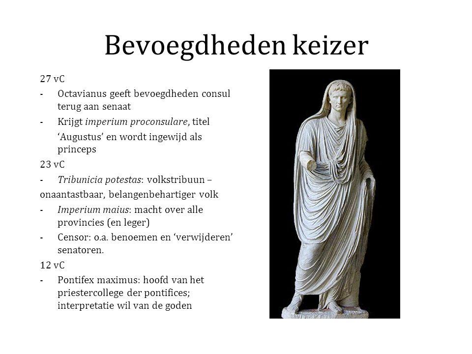 Pax Romana Cultureel vlak: –Keizercultus –Bloeiperiode Romeinse literatuur –Literaire productie in het Grieks –Bonte variëteit aan religies en religieuze gebruiken –Verbreiding van enkele oosterse religies