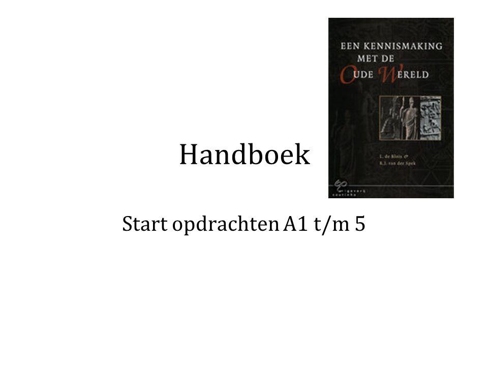 Handboek Start opdrachten A1 t/m 5