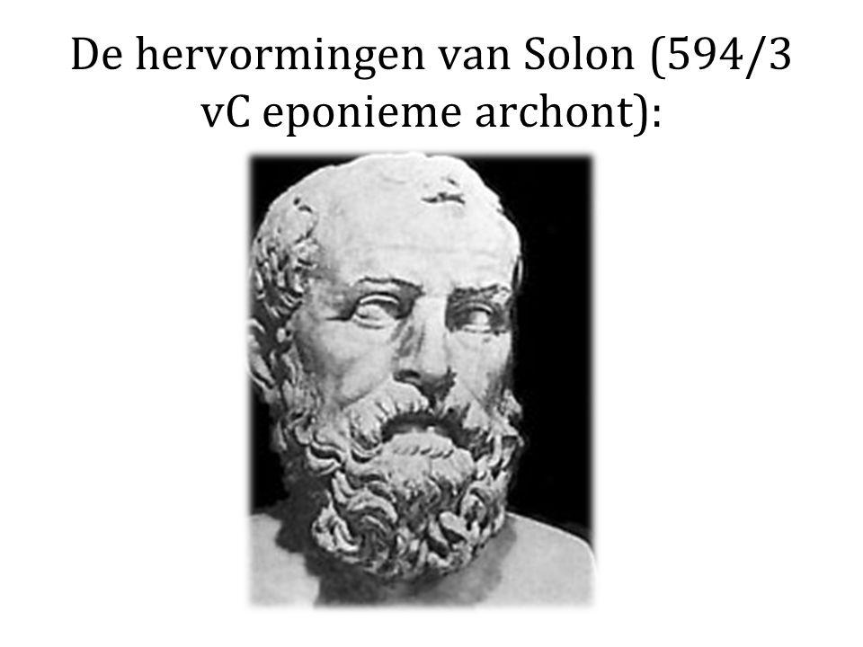 De hervormingen van Solon (594/3 vC eponieme archont):