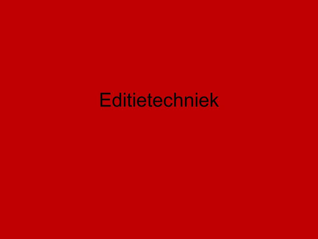 Editietechniek