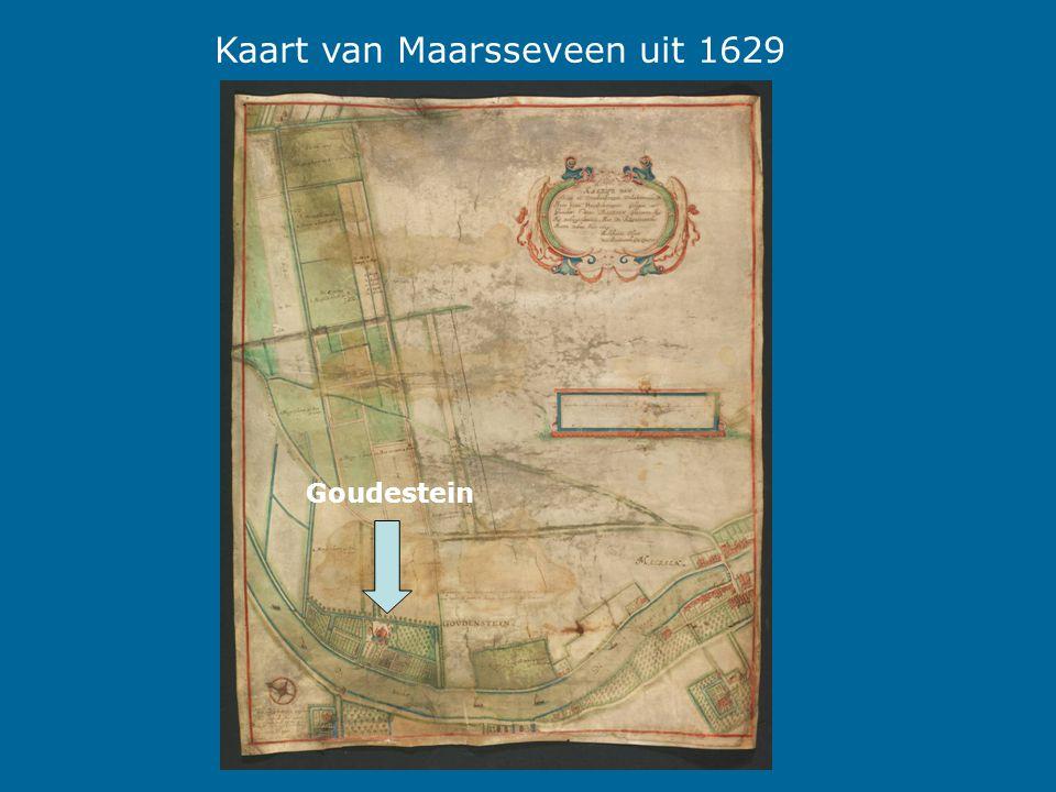 Kaart van Maarsseveen uit 1629 Goudestein