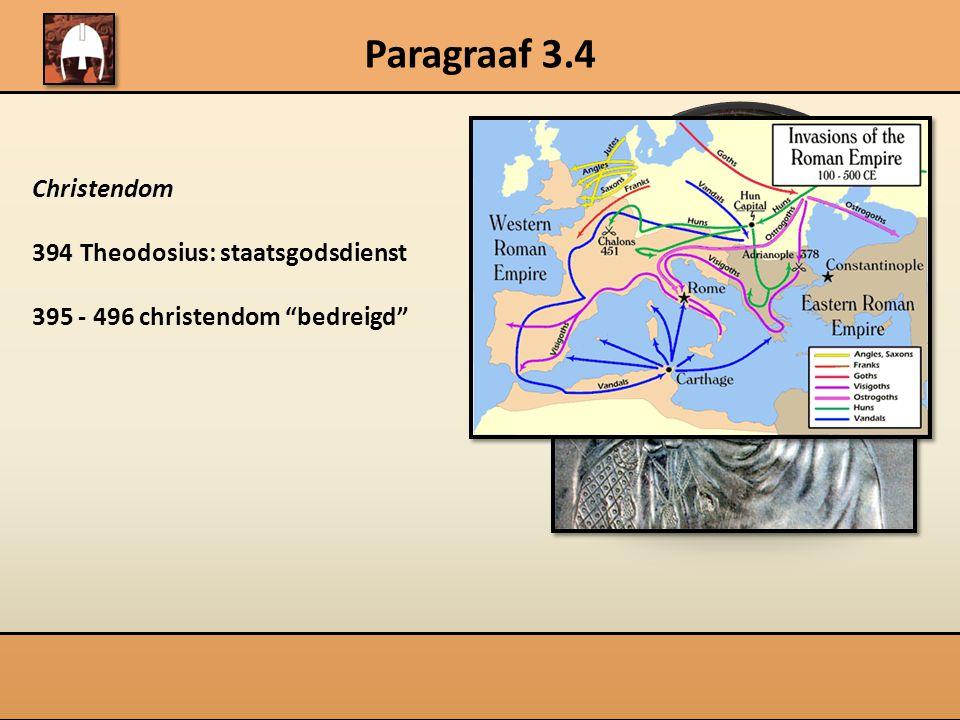 Paragraaf 3.4 Frankenrijk en christendom 496Clovis 732 Karel Martel 750 Childeric 768-814 Karel de Grote