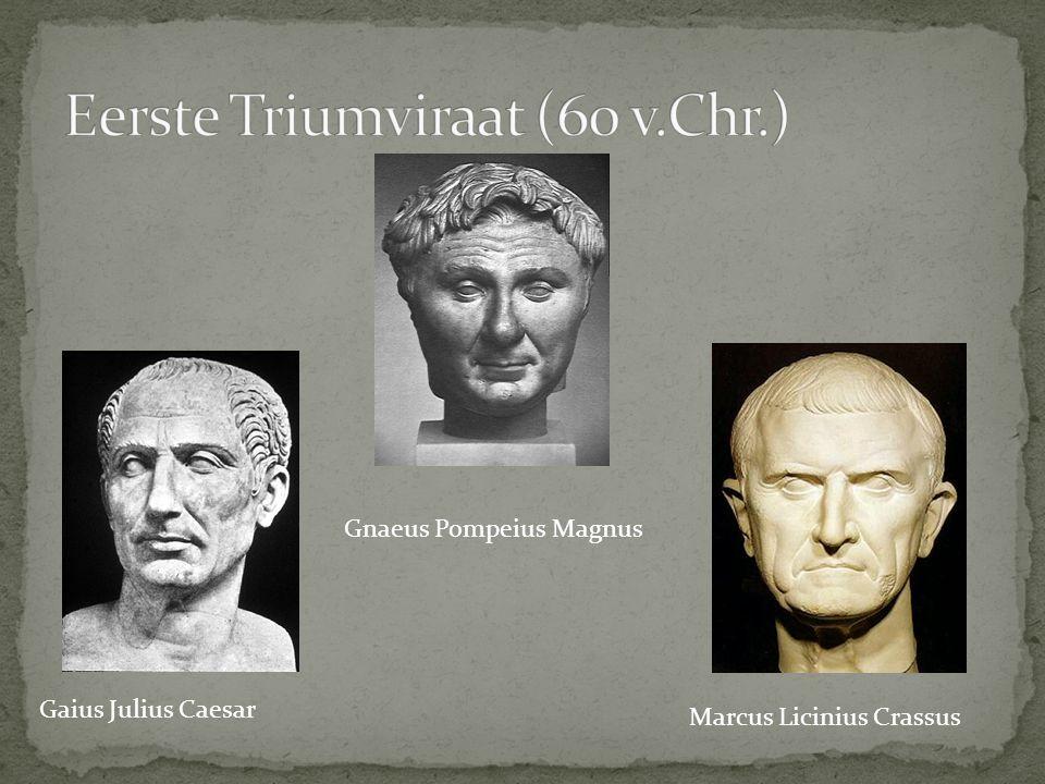 Gaius Julius Caesar Gnaeus Pompeius Magnus Marcus Licinius Crassus