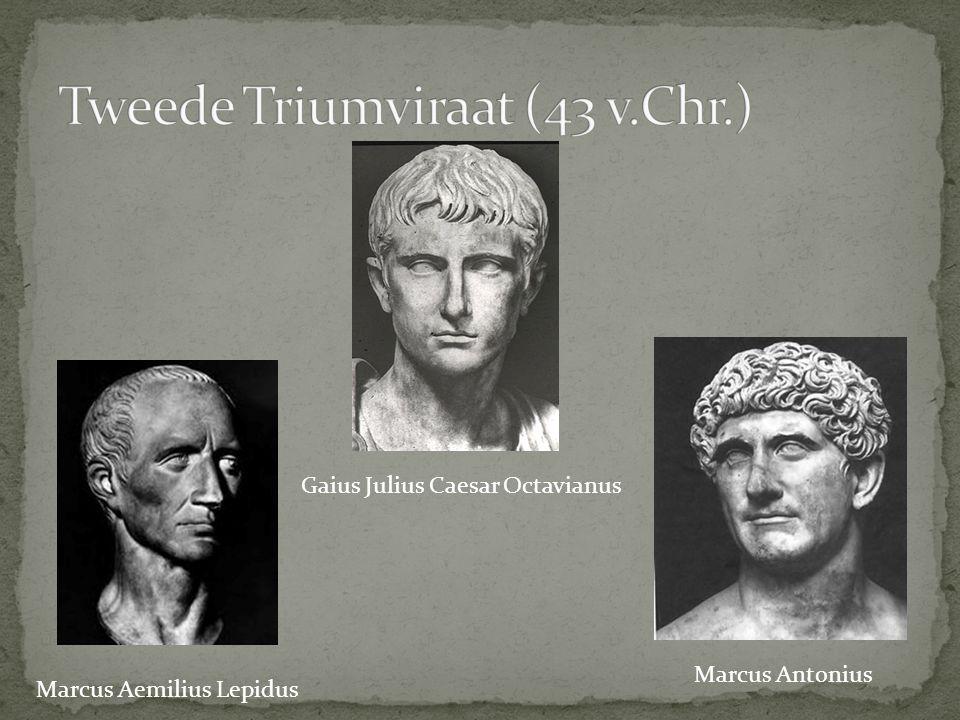 Marcus Aemilius Lepidus Gaius Julius Caesar Octavianus Marcus Antonius