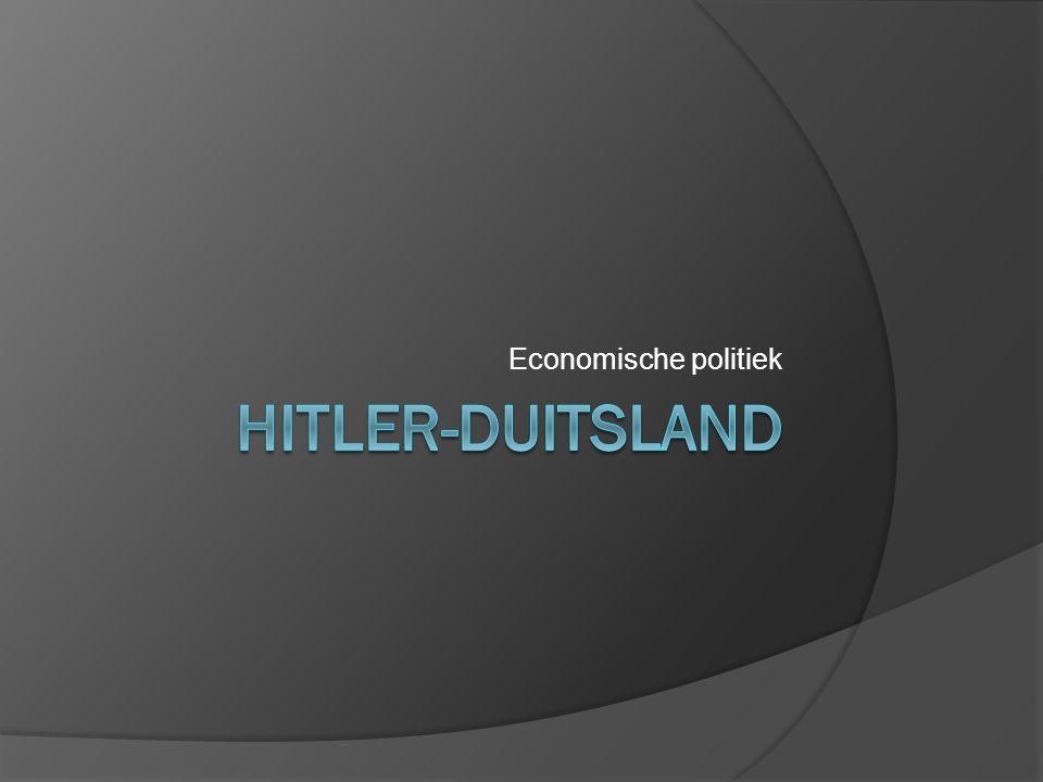  Toen Hitler aan de macht kwam, ging het slecht in Duitsland.