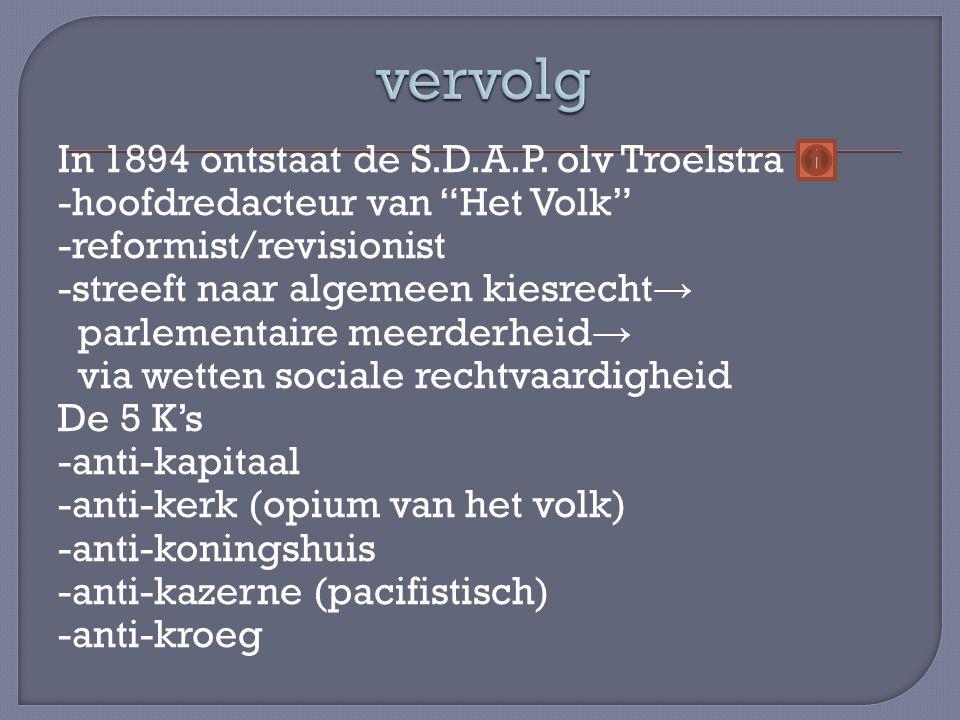 In 1894 ontstaat de S.D.A.P.