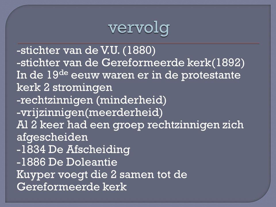 Beginselprogramma van Kuyper -soevereiniteit in eigen kring -anti- these In 1908 ontstond de C.H.U.