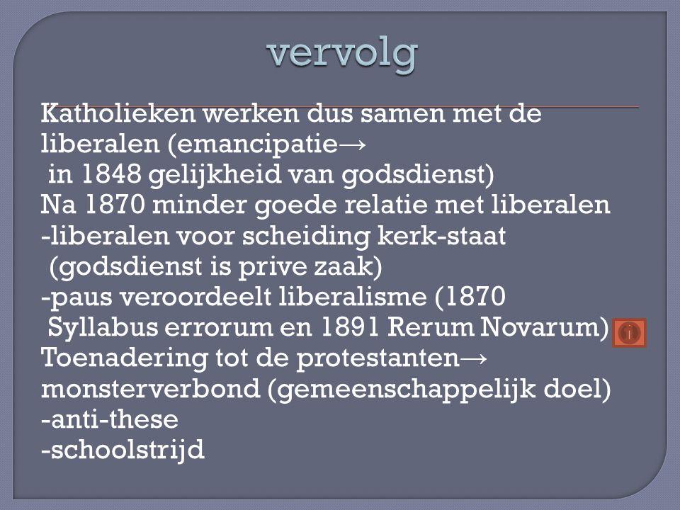 Katholieke partij ontstaat laat (kerk al goed georganiseerd) → in 1926 ontstaat de R.K.S.P.