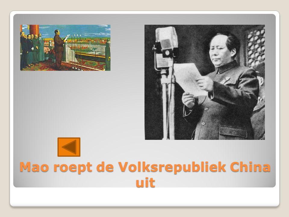 Mao roept de Volksrepubliek China uit