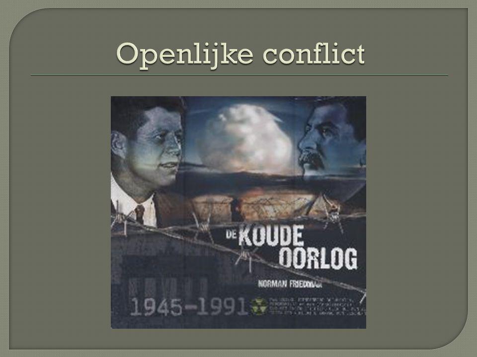 A-Kwestie Berlijn 1948 B-Korea oorlog 1950-1953 C-Hongaarse opstand 1956 D-Bouw van de Berlijnse muur 1961 E-Cubacrisis 1963