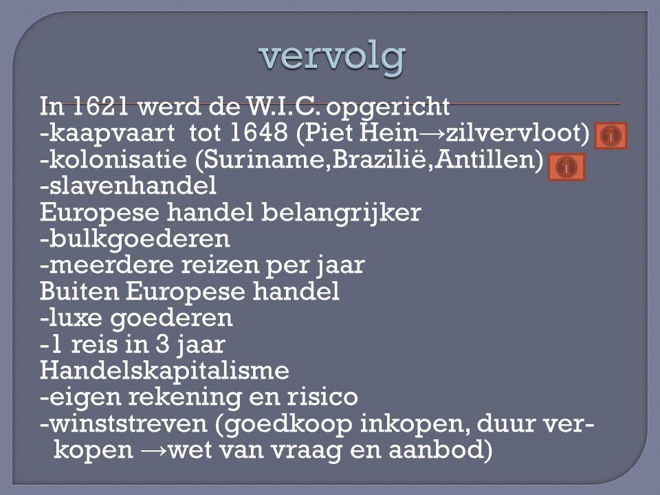 In 1621 werd de W.I.C.