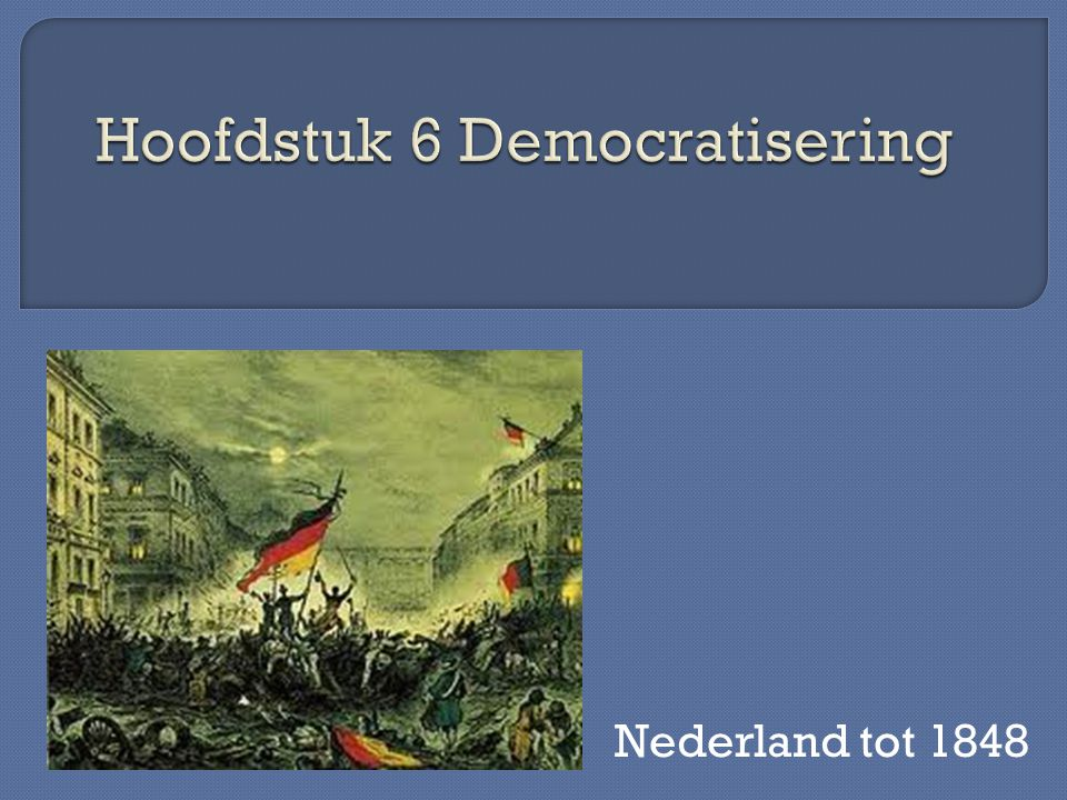 In 1815 Nederland een constitutionele monarchie d.w.z.