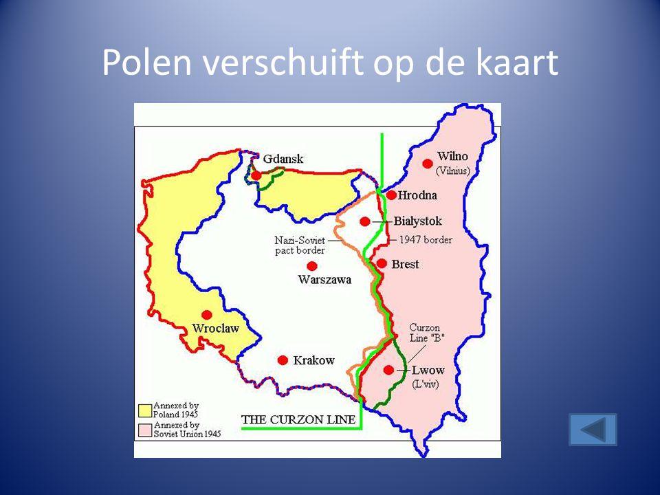 Polen verschuift op de kaart