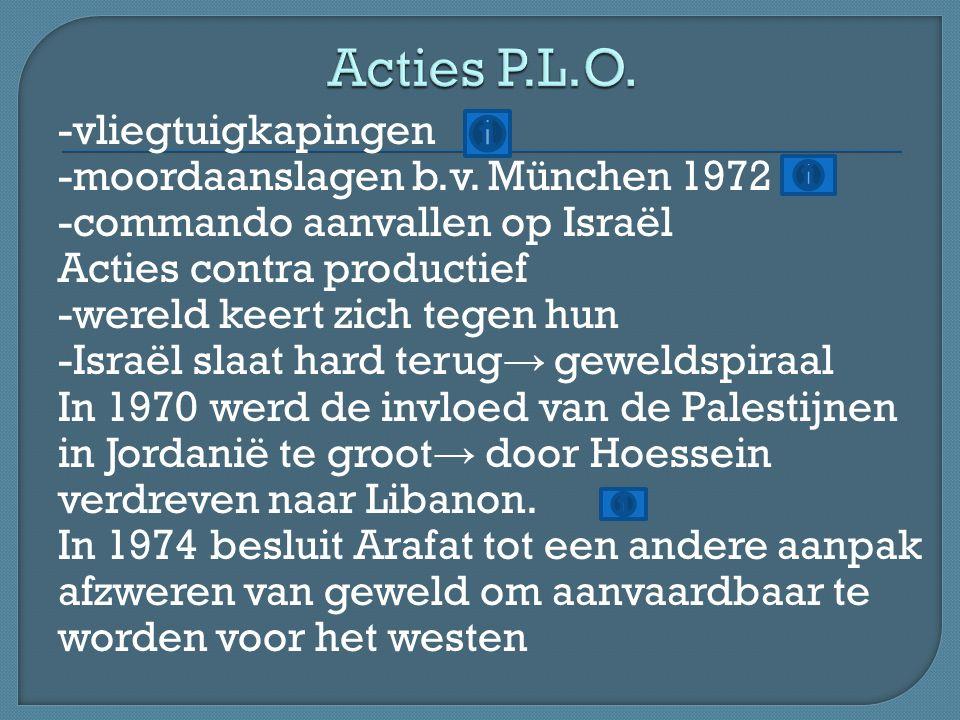Eerst wantrouwen in het westen en dan gedeeltelijk succes -P.L.O.
