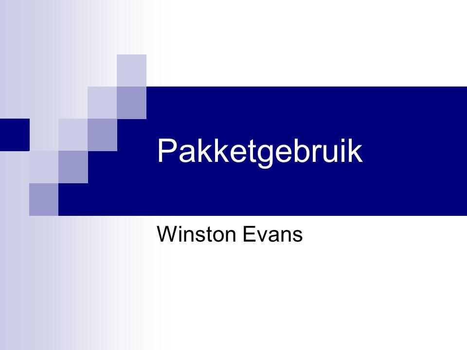 Pakketgebruik Winston Evans
