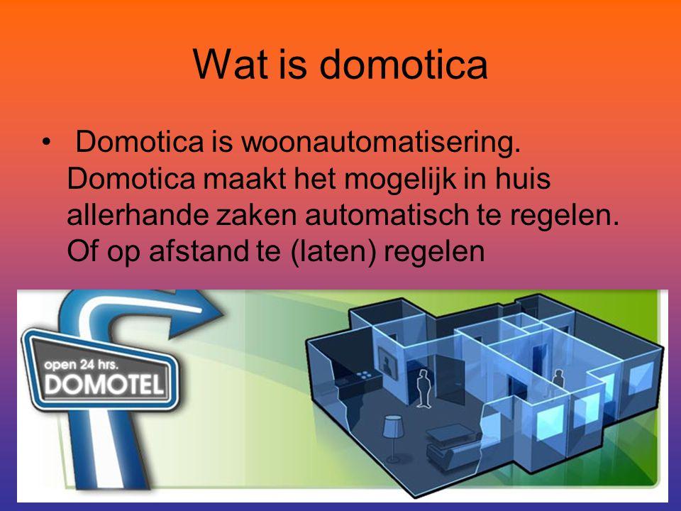 Wat is domotica Domotica is woonautomatisering.