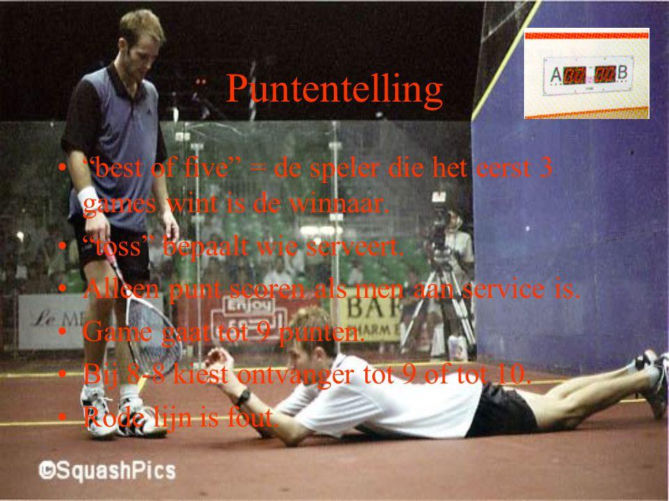 Inhoud Puntentelling Service Return Bal in het spel Bal raakt tegenstander Materiaal