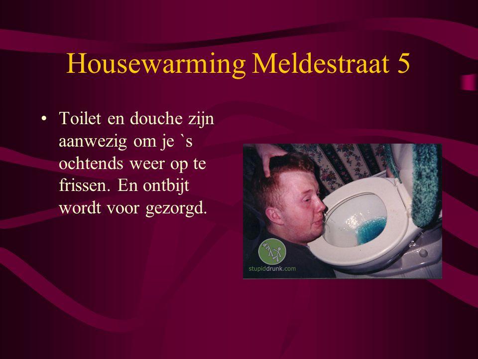 Housewarming Meldestraat 5 Toilet en douche zijn aanwezig om je `s ochtends weer op te frissen.