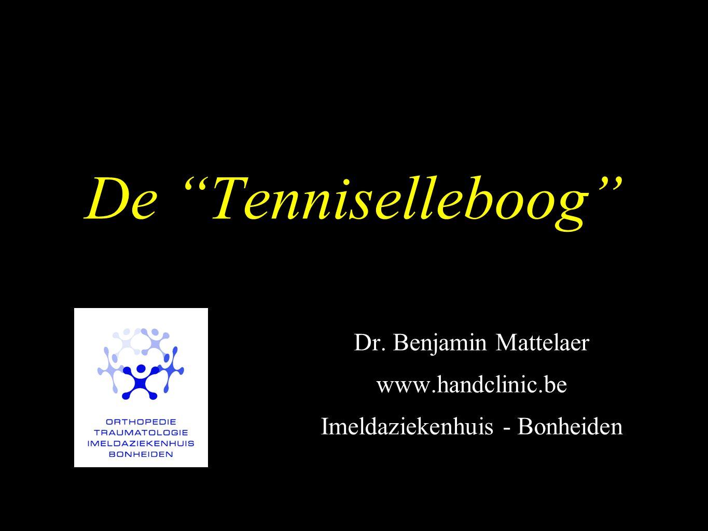 """De """"Tenniselleboog"""" Dr. Benjamin Mattelaer www.handclinic.be Imeldaziekenhuis - Bonheiden"""