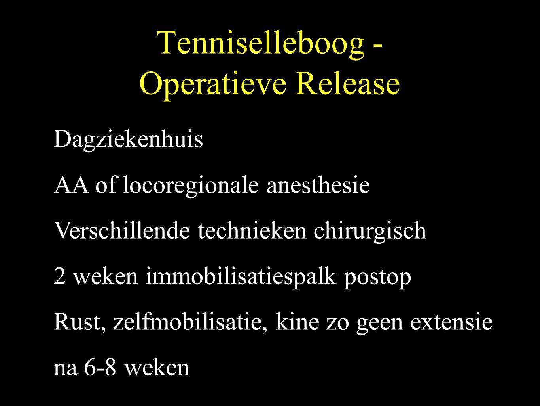 Operatieve Release - Chirurgische stappen 1.ECRB debridement en losmaken spanning 2.