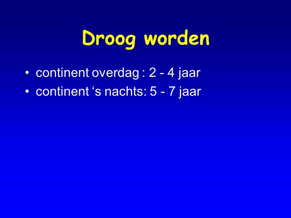 Encopresis Associatie met plasprobleem (bekkenbodemdysfunctie) Oorzaak: chronische constipatie Gevolg: blaasvolume