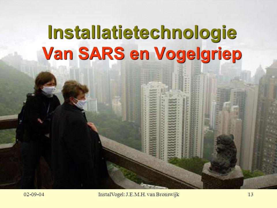 02-09-04InstalVogel: J.E.M.H. van Bronswijk13 Installatietechnologie Van SARS en Vogelgriep