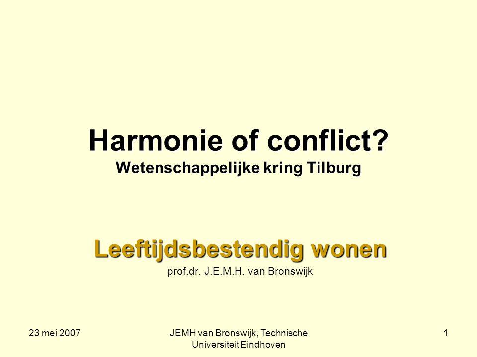 23 mei 2007JEMH van Bronswijk, Technische Universiteit Eindhoven 1 Harmonie of conflict.