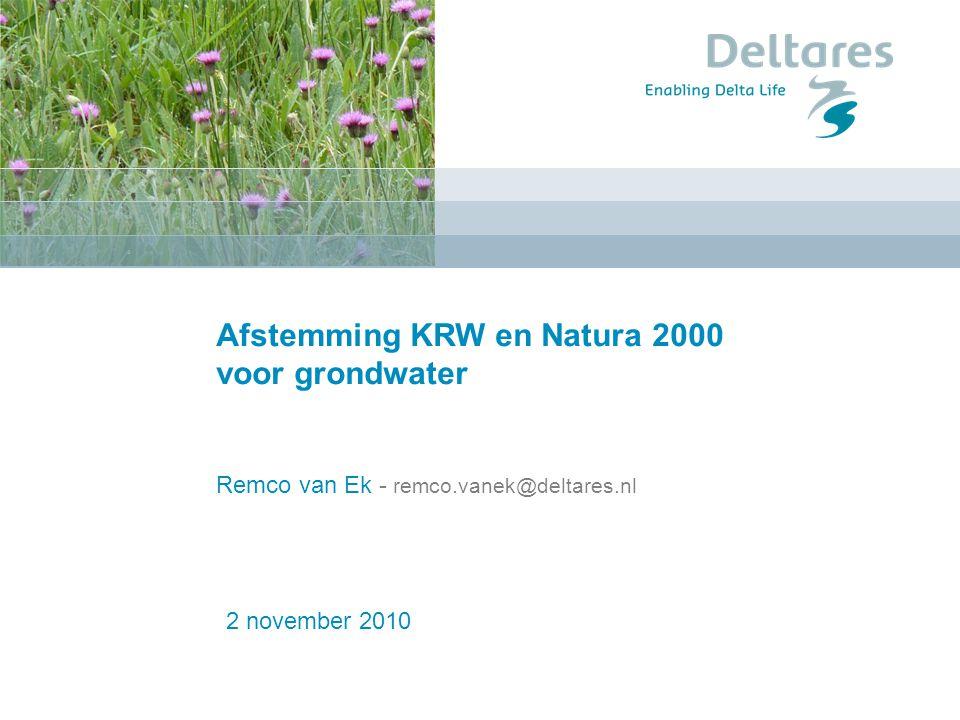 Introductie 1.Verdroging in Nederland 2.Wat vraagt de KRW.