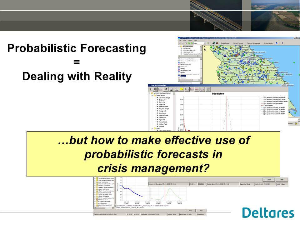 Probabilistic Forecasting = Dealing with Reality …but how to make effective use of probabilistic forecasts in crisis management?
