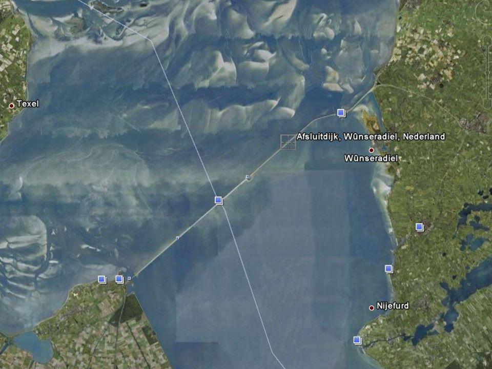 1 januari 2008 Luchtfoto Afsluitdijk
