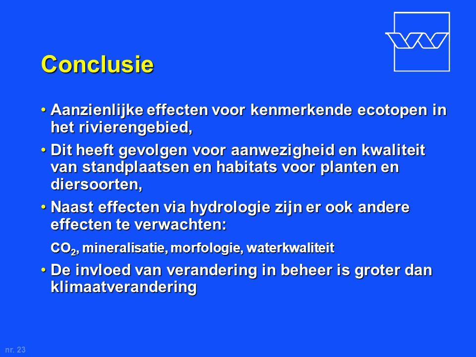 nr. 23 Conclusie Aanzienlijke effecten voor kenmerkende ecotopen in het rivierengebied,Aanzienlijke effecten voor kenmerkende ecotopen in het rivieren